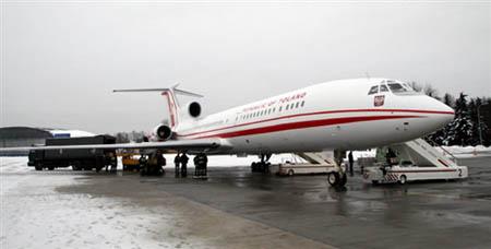 TU-154 (투폴레프) 기종인 폴란드 대통령 기