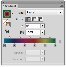 일러스트레이터 CS6 그라디언트 패널, 스트로크 옵션