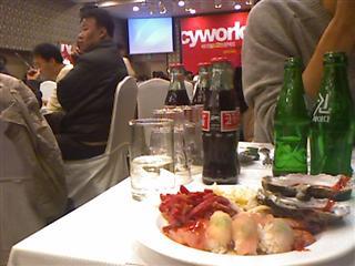 굴, 초밥, 육회, 새우