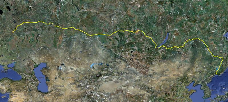 시베리아횡단열차 경로