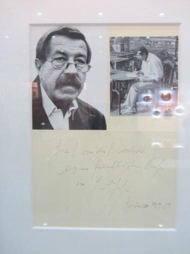 권터그라스의 친필편지와 사진