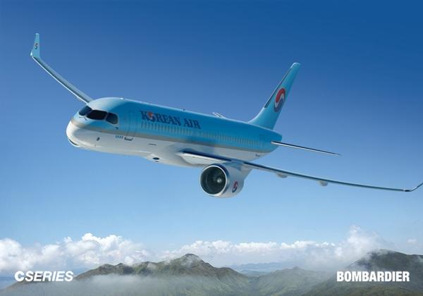 대한항공이 구매할 봄바디어 사의 CS300 항공기