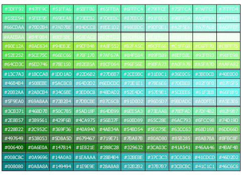 색상표 색상코드표 색상코드 모음 : 네이버 블로그