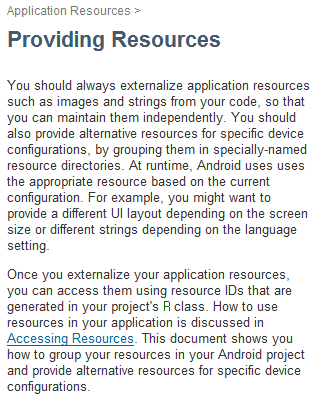 Add app resources | Android Developers