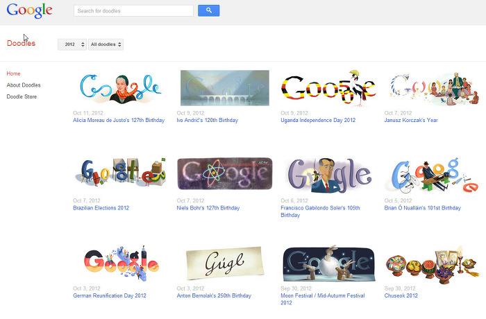 google Doodles사이트