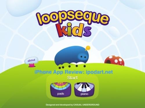 아이패드 추천 어린이 음악 앱 Loopseque Kids