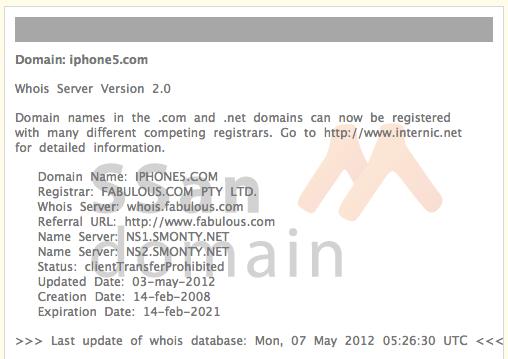 iPhone5.com  도메인 정보