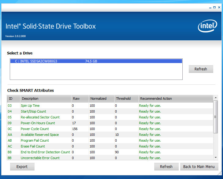 인텔 툴박스, intle toolbox, 인텔 ssd 점검 프로그램, ssd 점검 프로그램, ssd 오류, ssd 체크 프로그램, IT, 4K, 80GB, i3-380UM, intel, intel SSD, Intel SSD 320 Series PVR 80GB, Intel SSD 320 Series PVR 80GB 부팅속도, loading, nand, Review, solid state drive, SSD, X430, 낸드, 낸드플래시, 노트북, 로딩 속도, 로딩속도, 리뷰, 부팅, 사용기, 사진, 삼성노트북, 속도, 어플리케이션 로딩속도, 인텍앤컴퍼니, 인텔, 인텔 SSD, 플래시, 하드디스크,인텔 툴박스 Intel toolbox 를 설치하고 인텔 SSD를 점검하고 최적화하는 방법에 대해서 알아보도록 하겠습니다. 방법은 생각보다 간단합니다. 프로그램만 설치해주면 되죠. 이 프로그램을 통해서 인텔 SSD를 모니터링 하고 관리를 할 수 있습니다. 그리고 문제가 있는지 읽기 쓰기 테스트를 통해서 판별도 가능 하죠.  인텔 툴박스를 통해서 아래의 작업이 가능 합니다.  -  인텔 솔리드 스테이트 드라이브 관리 도구 – 이 컴퓨터와 연관된 인텔 SSD의    모니터와 관리를 활성화합니다. -  드라이브 정보 보기 – 시스템의 각 드라이브에 대한 모델 번호,    일련 번호 및 펌웨어 번호를 표시합니다. 또한 선택된 드라이브에 대한 ATA    및 SATA 기능도 나열합니다. -  SMART 속성 확인 - SMART 기능과 해당 임계값을 나열하고    필요한 경우 수행할 조치를 알려줍니다. -  빠른 진단 검색 실행 – 솔리드 스테이트 드라이브의 첫 1.5 GB를 분석하여    READ 또는 WRITE 오류가 있는지 여부를 판별합니다. -  전체 진단 검색 실행 – 전체 솔리드 스테이트 드라이브를 분석하여    READ 또는 WRITE 오류가 있는지 또는 불량 블럭이 있는지 여부를 판별합니다.  인텔 툴박스는 아래의 SSD 에 적용이 가능 합니다.  인텔® SSD 320 시리즈(120GB, 2.5in, SATA 3Gb/s, 25nm, MLC) 인텔® SSD 320 시리즈(160GB, 1.8in, SATA 3Gb/s, 25nm, MLC) 인텔® SSD 320 시리즈(160GB, 2.5in, SATA 3Gb/s, 25nm, MLC) 인텔® SSD 320 시리즈(300GB, 1.8in, SATA 3Gb/s, 25nm, MLC) 인텔® SSD 320 시리즈(300GB, 2.5in, SATA 3Gb/s, 25nm, MLC) 인텔® SSD 320 시리즈(40GB, 2.5in, SATA 3Gb/s, 25nm, MLC) 인텔® SSD 320 시리즈(600GB, 2.5in, SATA 3Gb/s, 25nm, MLC) 인텔® SSD 320 시리즈(80GB, 1.8in, SATA 3Gb/s, 25nm, MLC) 인텔® SSD 320 시리즈(80GB, 2.5in, SATA 3Gb/s, 25nm, MLC) 인텔® X18-M 솔리드 스테이트 드라이브, 80GB SATA II 1.8 인치, MLC, 고성능 인텔® X18-M 솔리드 스테이트 드라이브, 160GB SATA II 1.8in, MLC, 고성능 인텔® X25 V 밸류 SSD, 40GB 인텔® X25-E 솔리드 스테이트 드라이브, 32GB SATA II 2.5 인치, SLC, 고성능 인텔® X25-E 솔리드 스테이트 드라이브, 64GB SATA II 2.5in, SLC, 고성능 인텔® X25-M 솔리드 스테이트 드라이브, 80GB SATA II 2.5 인치, MLC, 고성능 인텔® X25-M 솔리드 스테이트 드라이브, 120GB SATA II 2.5in, MLC, 고성능, 34nm 인텔® X25-M 솔리드 스테이트 드라이브, 160GB SATA II 2.5in, MLC, 고성능 인텔® 솔리드 스테이트 드라이브 310 - 40GB 인텔® 솔리드 스테이트 드라이브 310 - 80GB 인텔® 솔리드 스테이트 드라이브 510 - 120GB 인텔® 솔리드 스테이트 드라이브 510 - 250GB