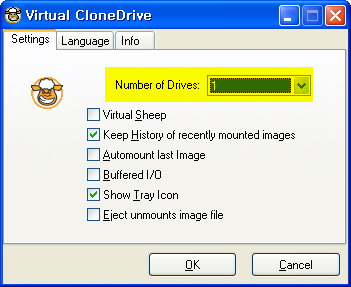 Virtual CloneDrive 환경설정