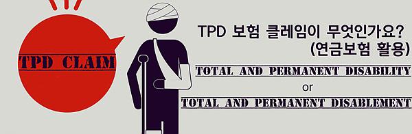 TPD 보험 클레임이 무엇인가요? (연금보험 활용)