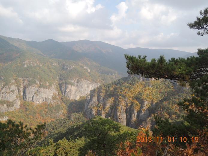 주왕산 등산코스 산행지도