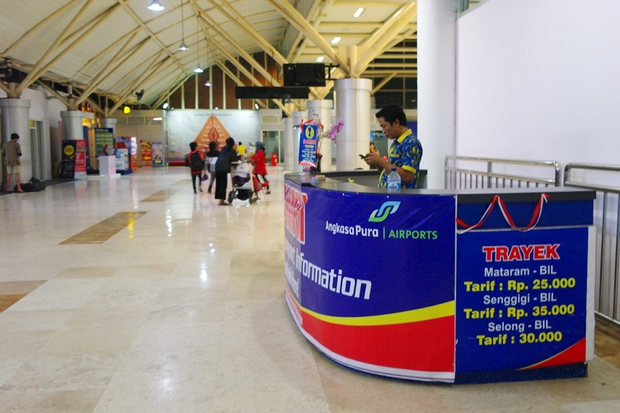 롬복공항 셔틀버스 매표소