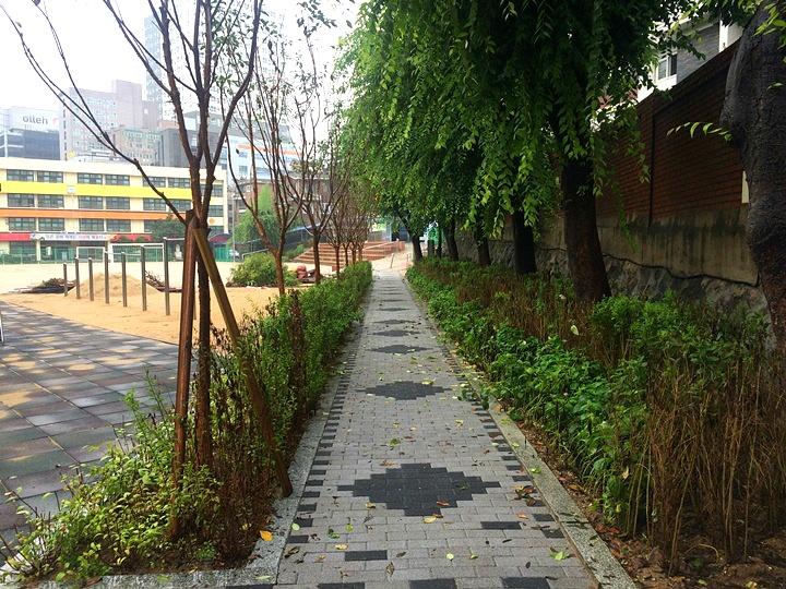 노량진초등학교 학교숲 진입공간