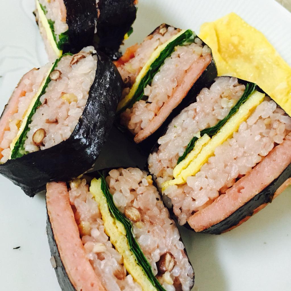 스팸 초밥 - 하와이언 무스비 느낌으로 입맛을 돋구자
