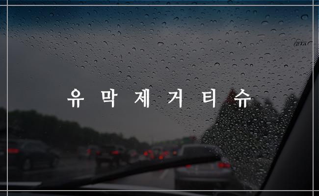 초간단 셀프세차용품, 유막제거티슈 & 발수코팅티슈 그 환상의 케미!