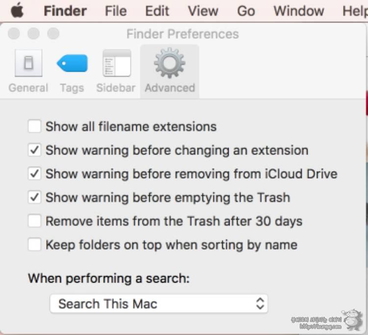 맥, osx, macOS, 쓰레기통, 삭제