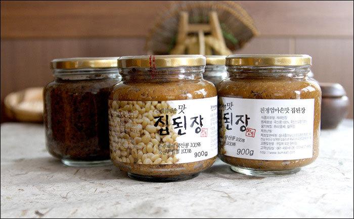 친정엄마손맛 집된장 21,000원 / 검정약콩 된장 30,000원
