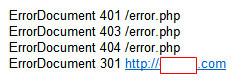 htaccess 파일에 ErrorDocument 추가, HTTP 상태코드 출력
