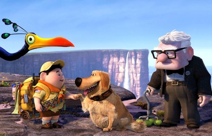 사진: 애니메이션 영화 업의 실화 주인공은 84세의 할머니였지만, 영화 상의 업의 주인공은 78세의 할아버지의 이야기다. 소년과 새, 말하는 개가 모험에 합류하며 갖가지 소동을 빚는 웃음을 준다. [영화 업 줄거리]