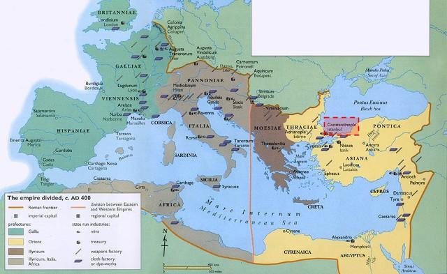 로마제국의 동서 분열