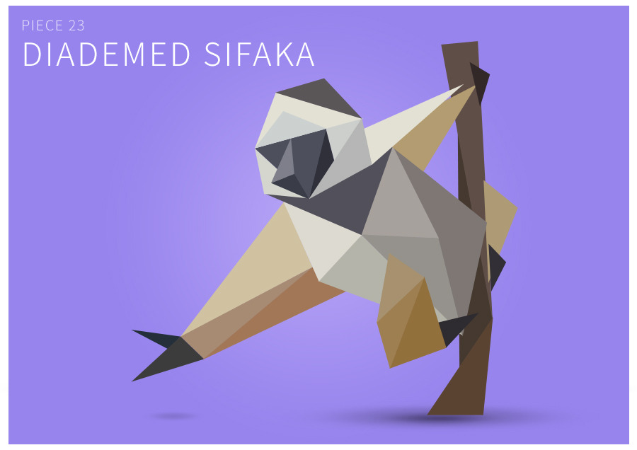Piece 23 Diademed sifaka