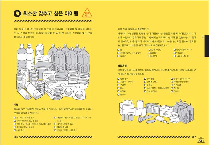 도쿄방재 재난가방, 지진대피가방