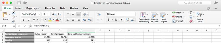 맥용 오피스 2016 - 엑셀(Excel)