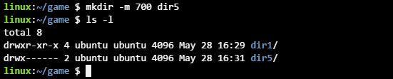 리눅스 mkdir 디렉토리 권한 설정