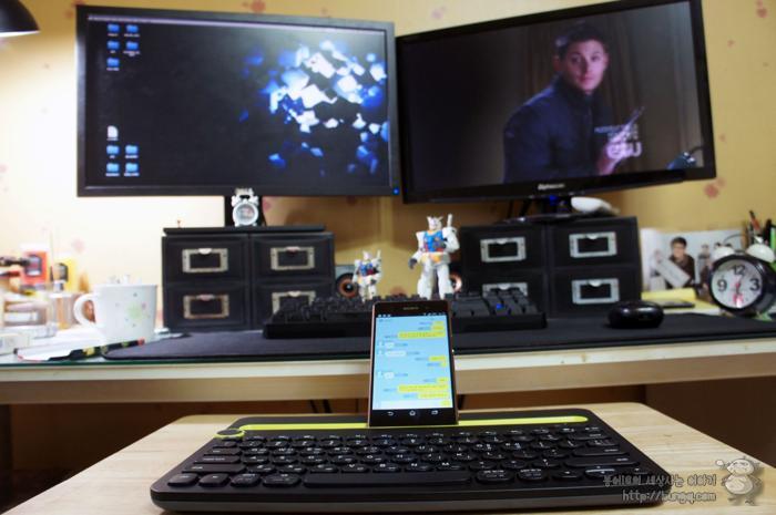 로지텍 블루투스 키보드 K480으로 카카오톡 몰래하는 법