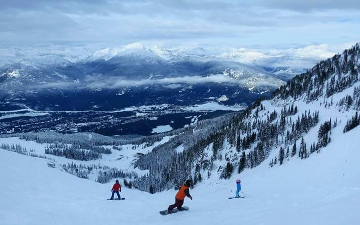 캐나다 최고 스키 리조트입니다