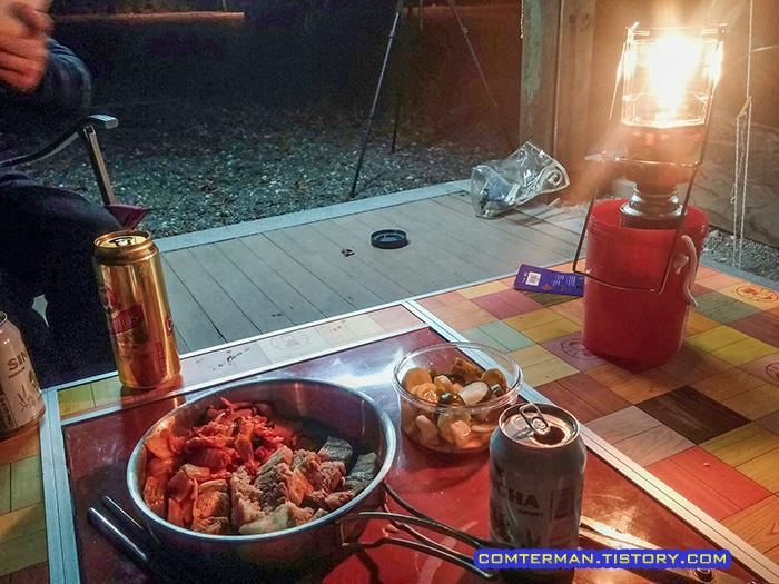 가을캠핑 저녁 풍경