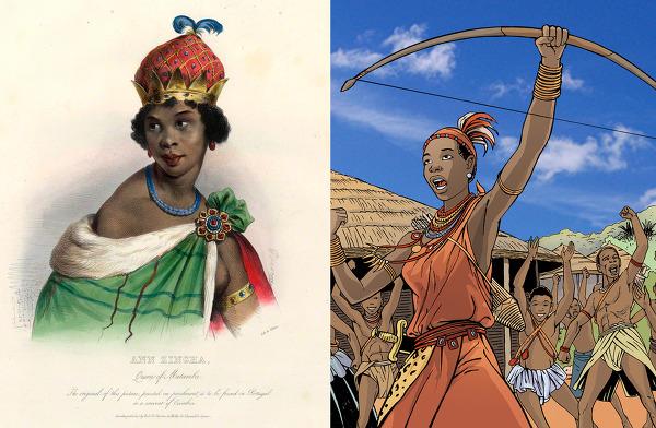 은징가 여왕 - 아프리카 앙골라의 어원과 식인종, 변태성욕자설에 대하여