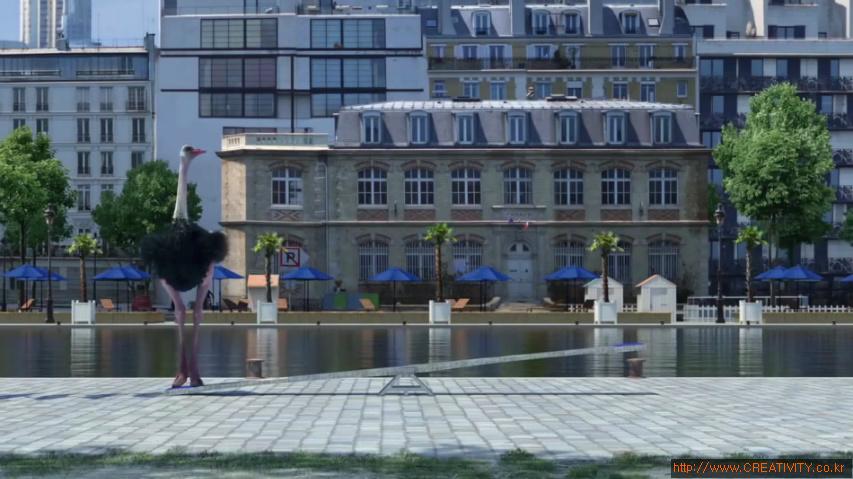 스카이다이빙 하는 코끼리, 롤러코스터 타는 타조, 외줄타는 기린 등 써커스 뺨치는 동물들의 모습 - 프랑스 채널3 (France 3) 여름특집 TV광고 [한글자막]
