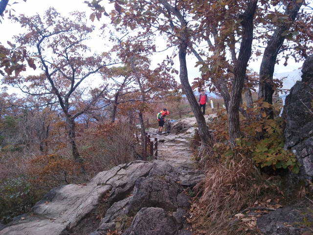 지리산 가을모습 등산로