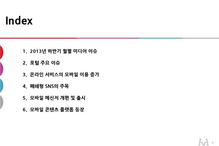 2013년 하반기 미디어 이슈 리포트 - 2013.12