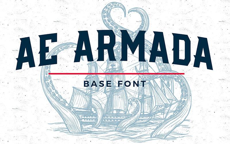AE Armada Base Font