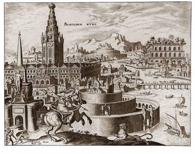 바빌론 공중정원 고대삽화