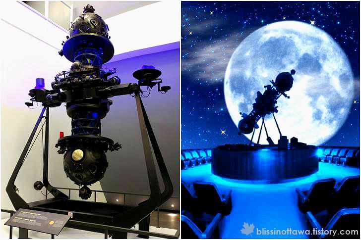 천문관 영상 프로젝터 입니다