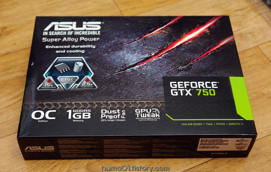 ASUS GEFORCE GTX750 1GB