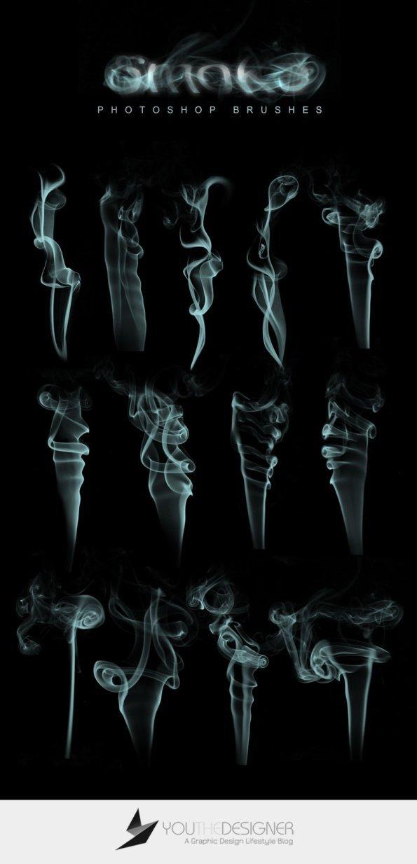 13 가지 담배 연기(smoke) 포토샵 브러쉬 - 13 Free Smoke Photoshop Brushes