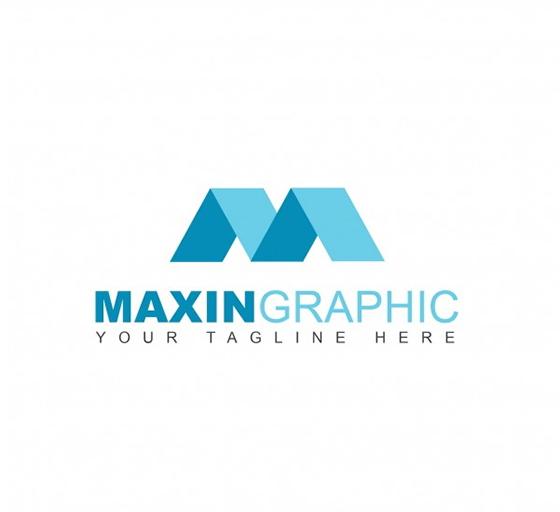 Geometric m logo