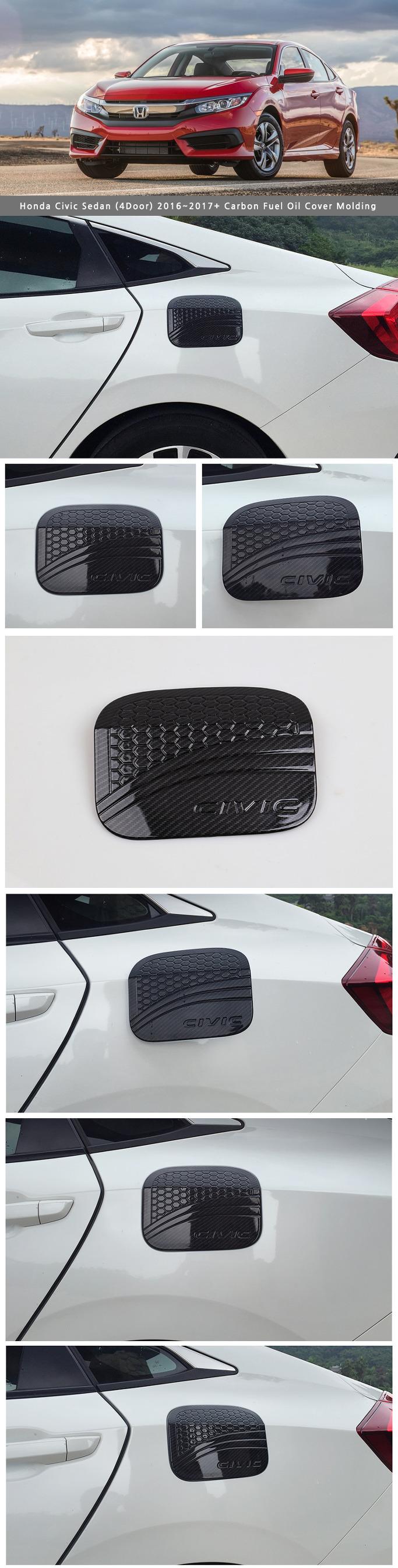 Carbon fuel tank cap oil cap cover for honda civic sedan for 2016 honda civic oil