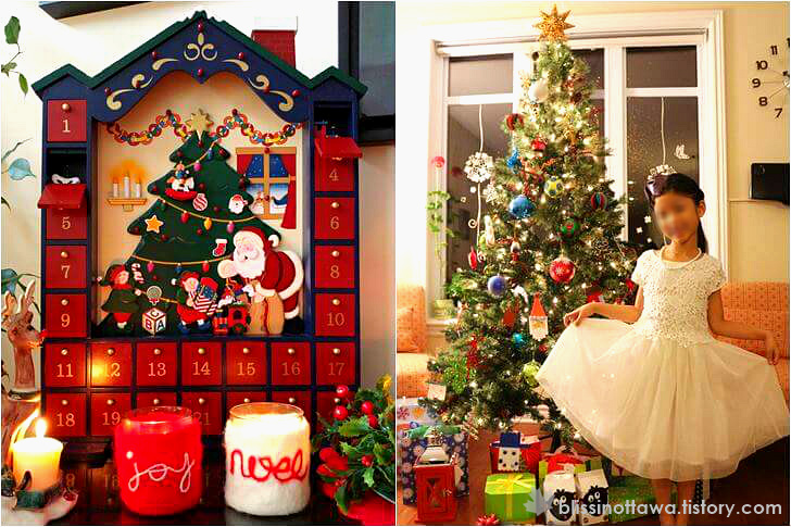 크리스마스 트리와 장식품 입니다