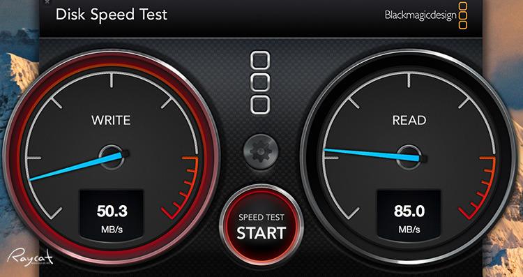 트레센드 SD jetDrive LITE 350 읽기 쓰기 벤치마크