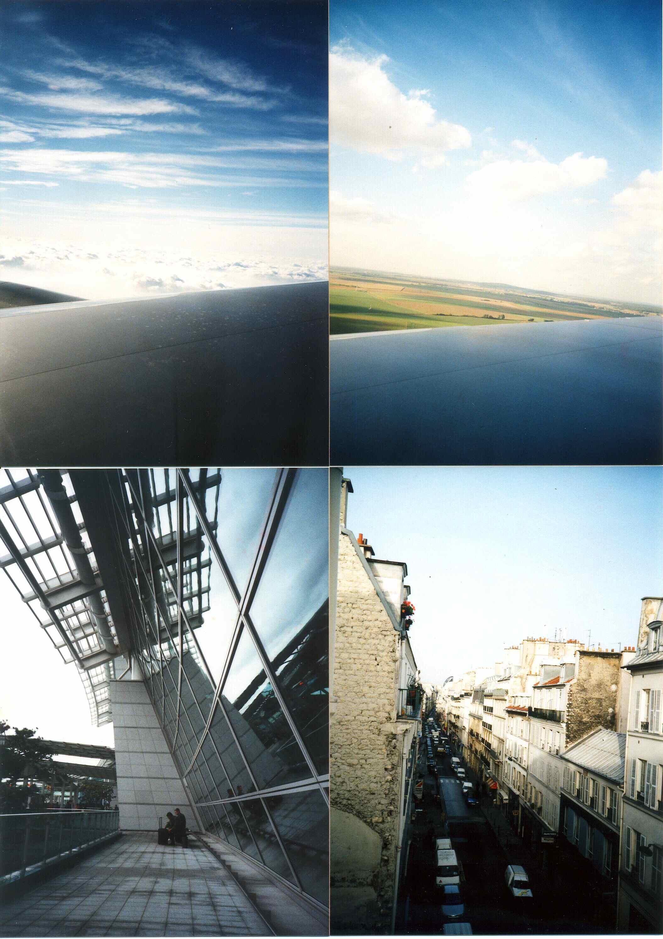 2001년 프랑스 파리와 김포공항 그리고, 하늘