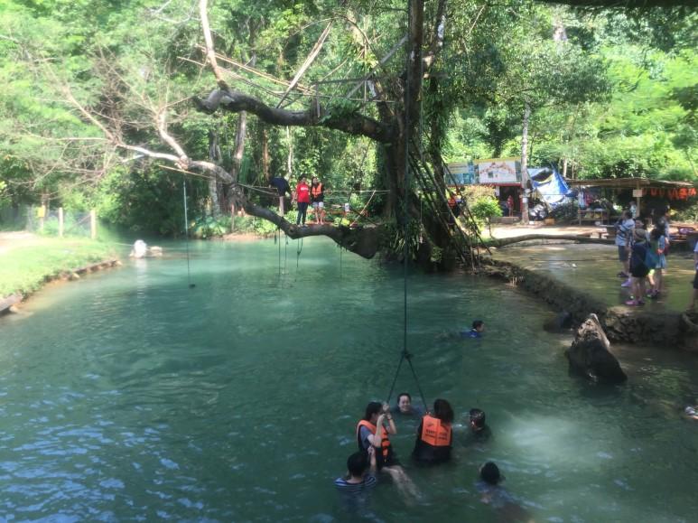 라오스 여행(3), 라오스 블루라군 (Laos Blue Lagoon)에서의 액티비티