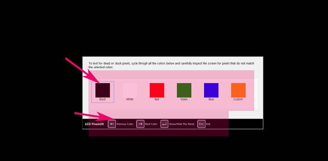 lcd led모니터 불량화소 검사 체크 프로그램 PixelChecker 사용방법