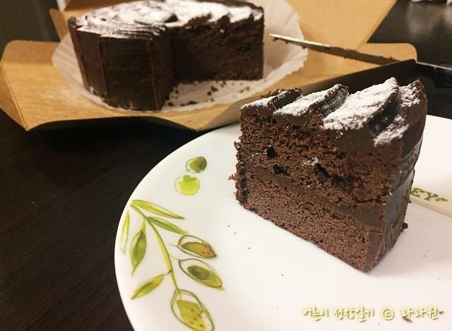 애슐리 초코 브라우니 케이크