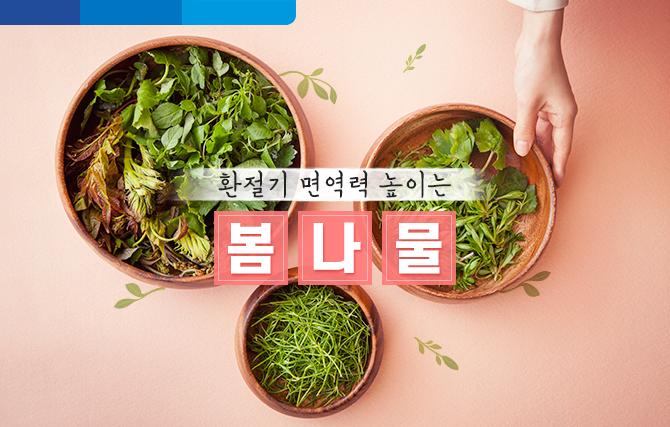 환절기에 면역력 높이는 봄 제철 나물