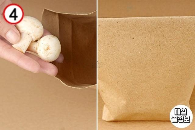 1주일 양송이버섯보관법 종이봉투